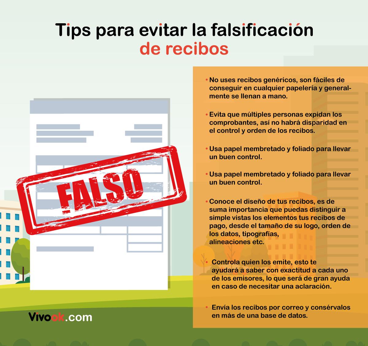 como evitar la falsificacion de recibos